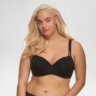 Paramour Women's Brilliance Lace Trim Seamless Bra -