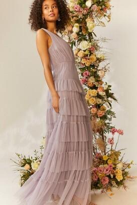 Coast Tulle Tiered Maxi Dress
