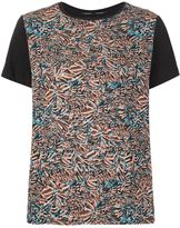 Proenza Schouler painterly print T-shirt - women - Silk/Cotton - XS
