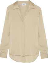 DKNY Stretch-silk Crepe De Chine Blouse - Beige