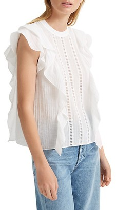 Club Monaco Ruffle Crochet Top