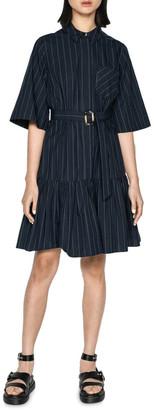 Cue Cotton Pinstripe Shirt Dress