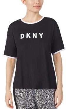 DKNY Logo-Print Knit Pajama T-Shirt