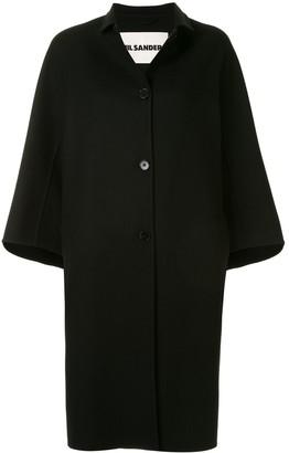 Jil Sander Single-Breasted Cashmere Coat