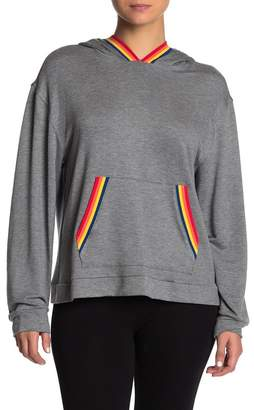 Nordstrom Room Service Love Wins Rainbow Trim French Terry Hoodie (Unisex Exclusive)