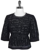 Cynthia Steffe Black Sleeve Cropped Jacket