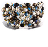 Nakamol Wire-Wrapped Beaded Cuff Bracelet, Multi