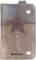 Diesel star print keyholder - men - Polyurethane/copper - One Size