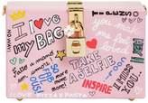 Dolce & Gabbana Dolce Box Graffiti Painted Wood Clutch