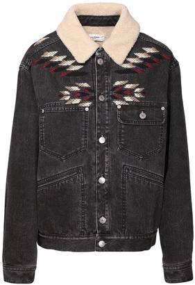 Etoile Isabel Marant Jarna Embroidered Cotton Denim Jacket