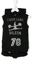 Philipp Plein Cheergang sleeveless hoodie - kids - Cotton/Modal - 4 yrs