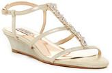 Badgley Mischka Carley Embellished Wedge Sandal- Wide Width Available