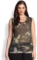 Fuzzi, Sizes 14-24 Floral-Print Tank Top