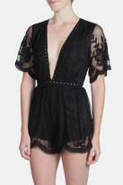 Honey Punch Black Butterfly Romper