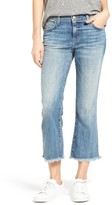 Current/Elliott Women's The Cropped Flip Flop Frayed Hem Jeans