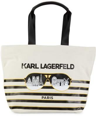Karl Lagerfeld Paris Paris Cotton Canvas Tote