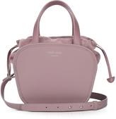 Meli-Melo Rosetta Mauve Leather Crossbody Bag