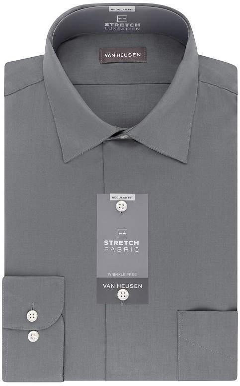 Van Heusen Lux Sateen Stretch Long Sleeve Dress Shirt - big and Tall