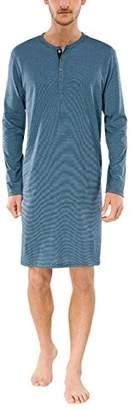 Schiesser Men's Nachthemd 1/1 Pyjama Top, Blue (Blau 800)