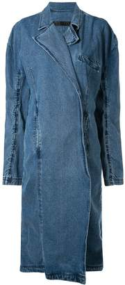 Pony Stone oversized denim coat