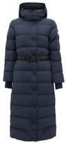 Burberry Eppingham Belted Down-filled Puffer Coat - Womens - Navy