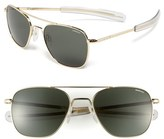 Randolph Engineering Men's 55Mm Aviator Sunglasses - Gold/ Agx