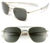 Randolph Engineering Men's 55Mm Aviator Sunglasses - Gold/ Agx