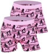 Godsen Men's 2 Pack Seamless Boxer Briefs Underwear (L, )