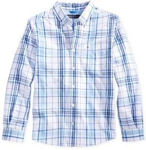 Tommy Hilfiger Ethan Plaid Button-Down Shirt, Little Boys