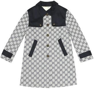 Gucci Kids GG cotton-blend coat