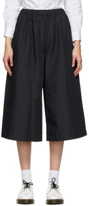 Comme des Garçons Comme des Garçons Black Gabardine Pull-On Trousers
