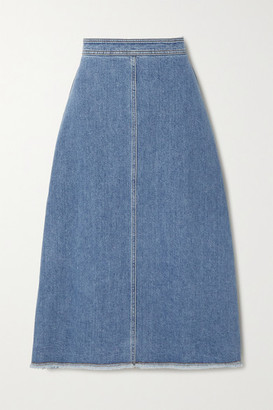 Philosophy di Lorenzo Serafini Frayed Denim Skirt - Mid denim