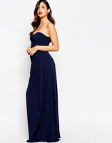 Jarlo Claudia Bandeau Maxi Dress with Draping Detail