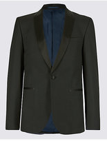 M&S Collection Black Slim Fit Jacket