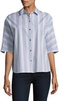 Imnyc Isaac Mizrahi Mainline Striped Button-Up Shirt