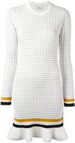 3.1 Phillip Lim long sleeve knit dress - women - Cotton/Spandex/Elastane - M
