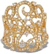 Effy Jewelry Effy D'Oro 14K Yellow Gold Diamond Filigree Ring, 0.89 TCW