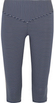 Olympia Activewear Mateo Cropped Striped Stretch-jersey Leggings