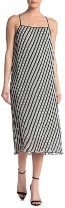 Diane von Furstenberg Novalee Stripe Print Midi Dress