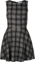 Alice + Olivia Alice+Olivia - checked flared dress - women - Cotton/Acrylic - 8