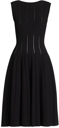 Alaia Sleeveless Pique Fit-&-Flare Dress