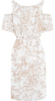 Bailey 44 Off-The-Shoulder Printed Crepe Dress