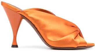 L'Autre Chose Colour-Block Ruched Sandals