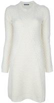 Alexander McQueen Honeycomb-knit dress