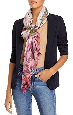 Fraas Forest Print Square Fringe Scarf - 100% Exclusive