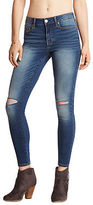 Aeropostale Womens Seriously Stretchy Medium Wash Mid-Rise Ankle Jegging