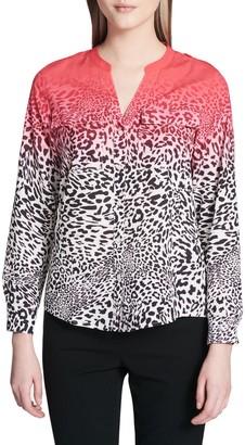 Calvin Klein Collection Leopard Print Button-Down Shirt