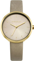 Karen Millen Grey Leather Watch - Grey