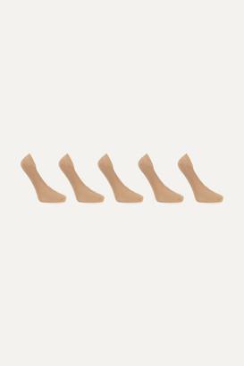 Falke Cotton Step Set Of Five Knitted Socks - Neutral