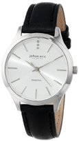 Johan Eric Women's JE2200-04-001.7 Herlev Black Leather Watch with Diamond Accents